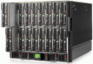 HP C7000 Enclosure  w/ 16 x BL460c G6 Server Blades 2 x SIXCORE X5645  ***192 Cores / 384 Threads 512GB RAM 2.3TB SAS ESXI 6